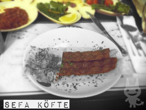 Sefa Köfte Hey guys, today we wanted to go to a place in 4.Levent. After a little research, we found a great place to taste in the Krempark Shopping Mall. They have only meatballs on the menu but it's unusual one. They said that it's a recipe of Erzincan region.   At first before the meatballs they've serviced spicy ezme, greens, roasted peppers & tomatoes and famous Erzincan cheese.  These Erzincan-style meatballs are look like Adana Wrap but it's different and it was extremely delicious! And waiter serviced hot lavash continuously..   After the meal we wanted to taste baked rice pudding which is is a light dessert originated in Ottoman cuisine… This dessert was really awesome.  We extremely suggest you to visit Sefa Köfte and eat their Erzincan recipe meatballs.. There was a shredded phyllo dessert (Tel Kadayıf) too but we didn't try it coz both of us wanted to eat baked rice pudding. Maybe you would try that..  Extremely delicious food Awesome desserts Reasonable prices  Address Sanayi District, Eski Büyükdere Street, Number 31, 4.Levent - Krempark Shopping Mall Phone: (212) 284 33 79 http://www.sefaparkkofte.com