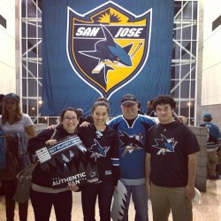 Playoff game with my family! Always a rare occasion when were all together #sanjosesharks #sjsharks #hppavilion #sharktank #sharksterritory #playoffs #bleedteal #playhard #nhl #diedhardfan (at HP Pavilion at San Jose)