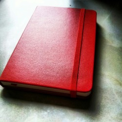One of my favourite Christmas presents, a red @moleskine 2013 diary! #diary #moleskine #red #present #love thanks @phrazerm