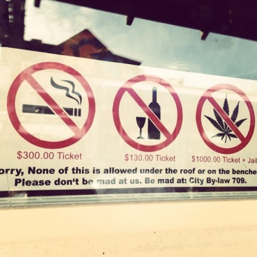 """be mad at: City By-law 709."" 🙅🚬"