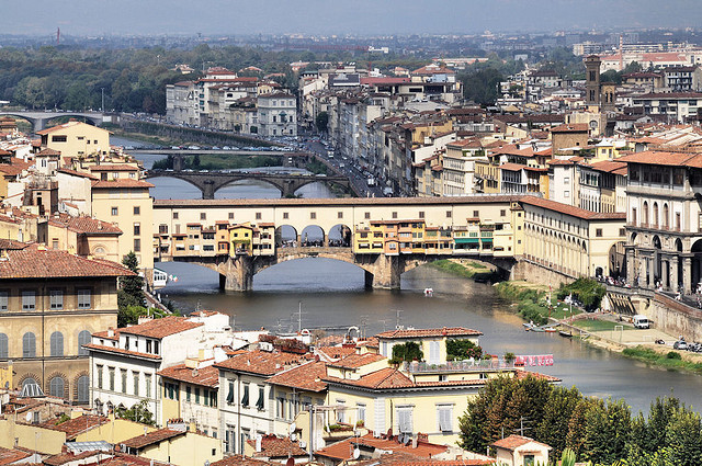 | ♕ |  Arno River - Florence, Tuscany  | by © Richard Hugo