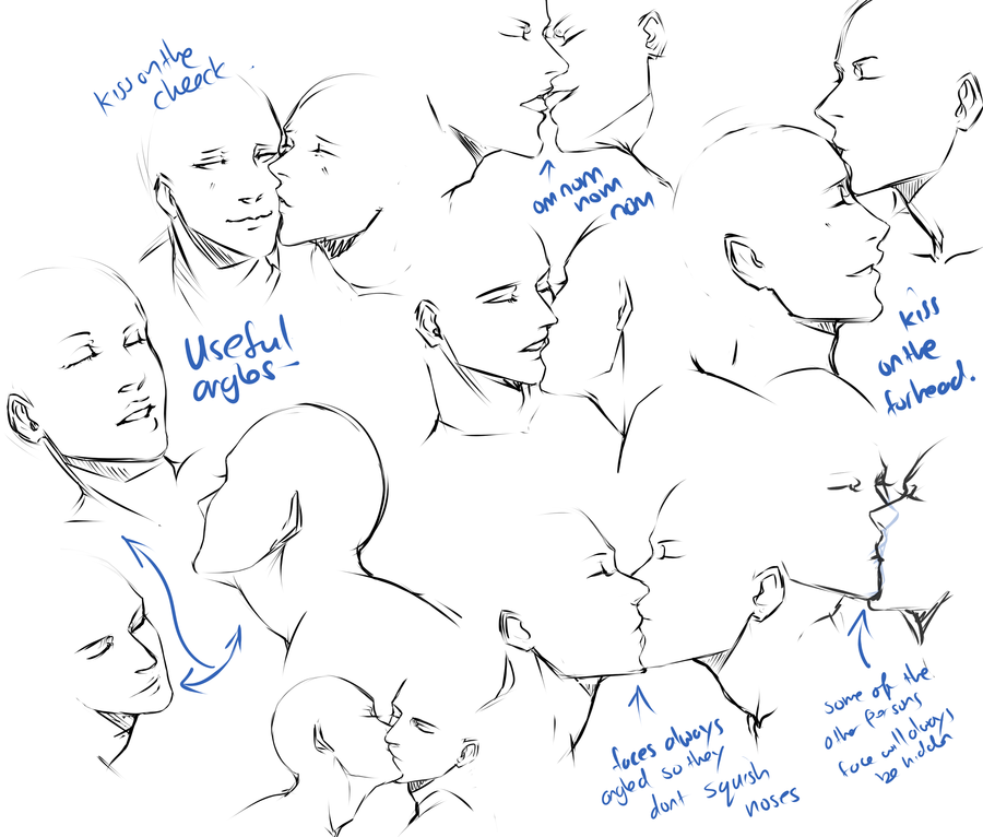 mishya-n:  +Kissing pose practice+ by *moni158