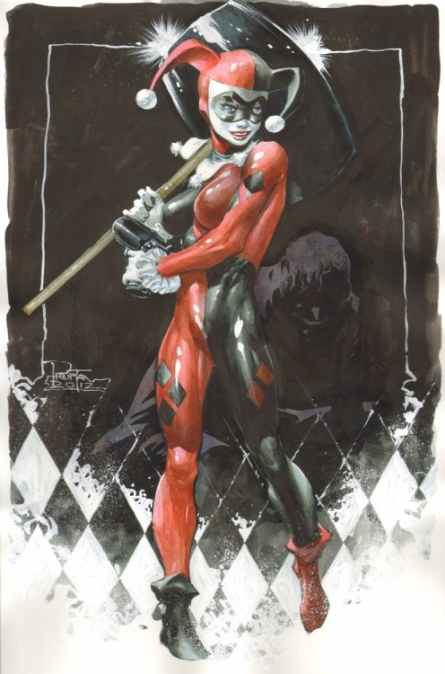 La pin-up del giorno: Harley Quinn, di Philip Tan. lulubonanza:  Drawn By Philip Tan
