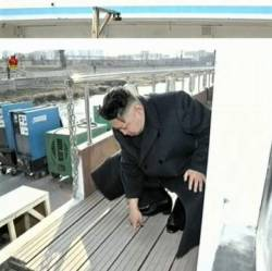 kimjongunlookingatthings:  looking at a floor plank