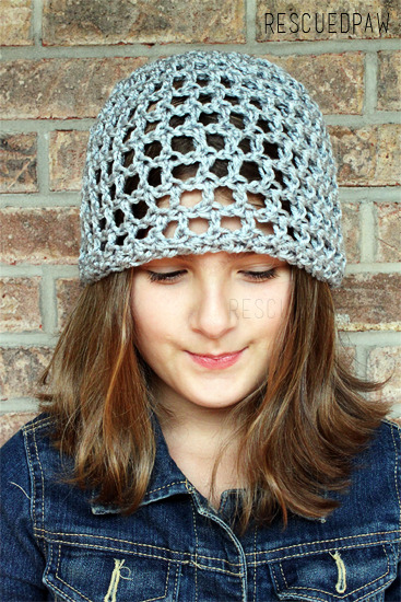 Open Lace Crochet Hat {FREE PATTERN}