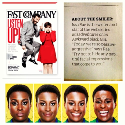 "amprgroup:  Be sure to catch our client @issarae in Feb issue of @fastcompany! Page 30 ""How to Interpret Facial Expressions"" (at AM PR Group Office)"