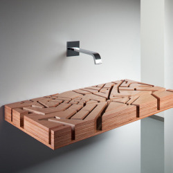This water basin was designed as a topographic map of London! Furniture Fanatic: Water Map Sink by Julia Kononenko