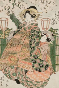 thekimonogallery:  Katsuyama of the Matsubaya. Ukiyo-e woodblock print, about 1830's, Japan, by artist Keisai Eisen.