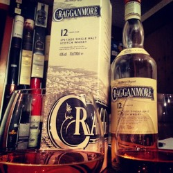 majestictragedy:  #whisky of the day - #cragganmore @paella_palace