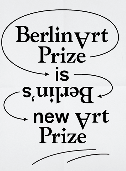 Berlin Art Prize. Art Direction, Design & Typography by HelloMe, Till Wiedeck.