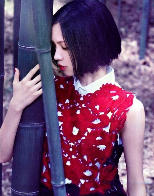fusion of east and west, kiko mizuhara for vivienne tam, 2012