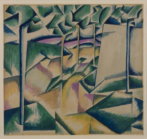Edward Wadsworth, Landscape, 1913