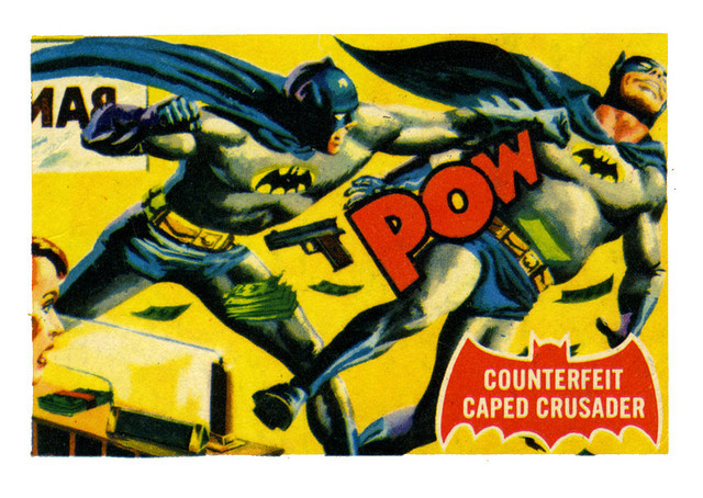 cryptofwrestling:  Batman Gum Card (1966)