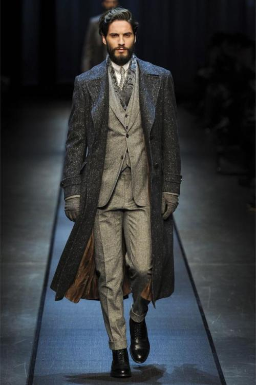 todaystie:  Canali   I wish I could get my husband to dress like this every day. But then he would want me to wear dresses, when all I ever want to wear are jeans and t-shirts with no bra. So, compromise: we both wear jeans and t-shirts. And neither of us have to wear a bra.