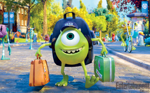 Mike Wazowski! As a teenage monster! Wearing a retainer!! We've got another pic — plus a bunch of scoop — from Monsters University on the site.