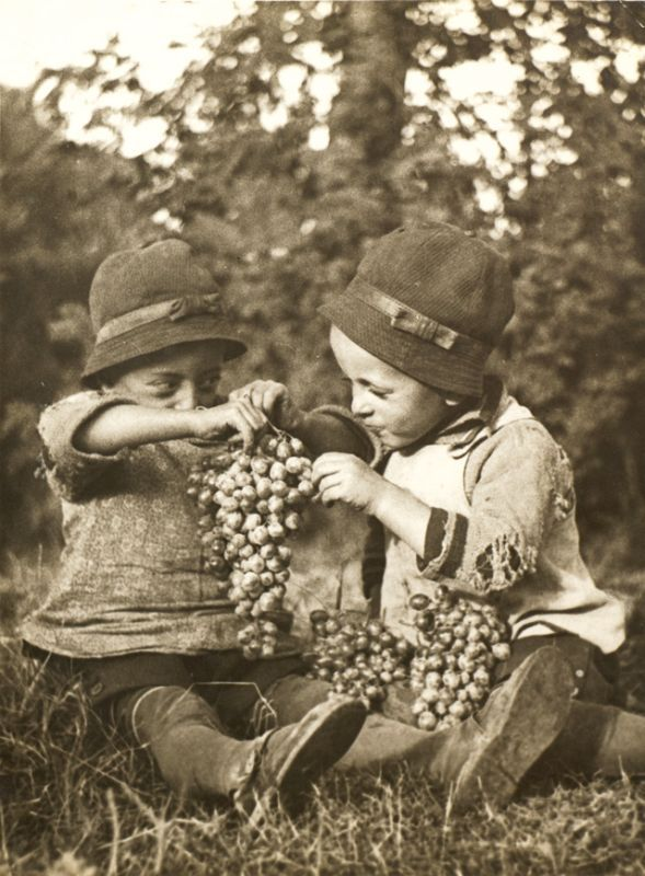 Children with grapes, Kerny István. (1879 - 1963)