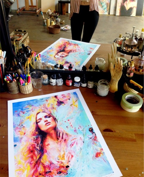 """Jewel"" large limited edition print now available!  Signed edition of 100   www.CharmaineOliviaShop.com"