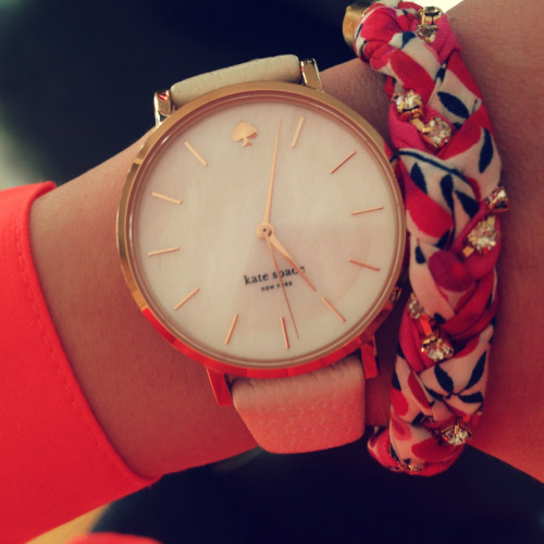 wasted-timezz:  in LOVE with kate spades watches