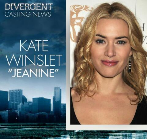 bebravefourtris:  It's official, guys! :] Kate Winslet is Jeanine! :]  SO exciting!