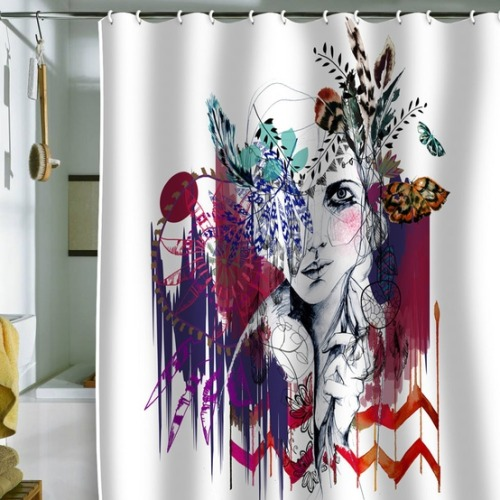 I'm pretty sure this shower curtain will be my next purchase for the house.  It's gorgeous.