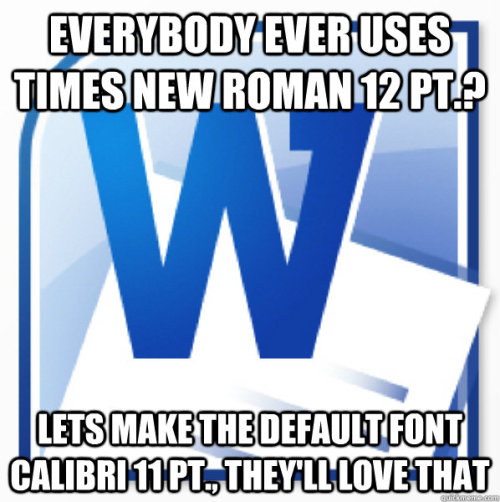 Don't care. Times New Roman is awful and old.