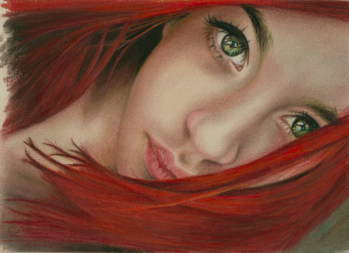 Syda by Brian Scott~ color pencils