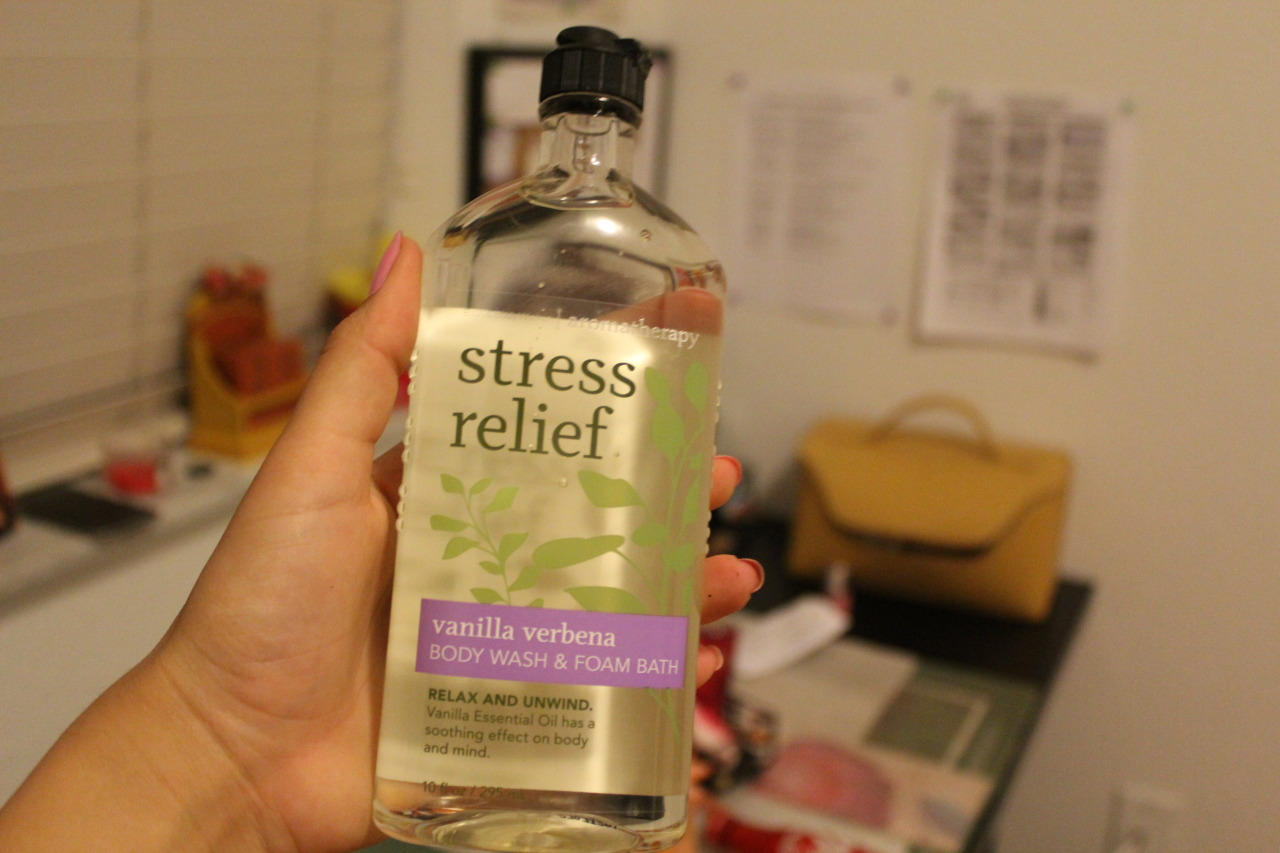 red-starburst:  Stress Relief body wash. it better work