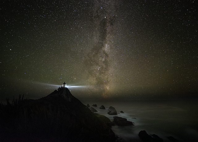 breathtakinglandscapes:  Nugget point light house and milkyway by Stefan Mutch on Flickr.