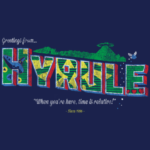 "teeketch:  ""Greetings from Hyrule"" by TeeKetch Available 4/12 at www.shirtpunch.com for $10! Follow me on Facebook and find out how you could win a signed Link sketch!"