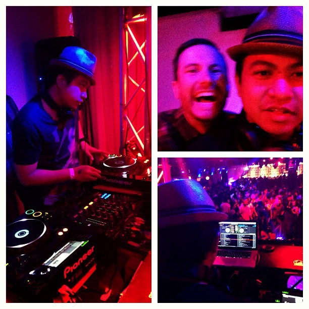 LoLz liKe OmGz  @djcheapshot whuRz da o'DouLz at?  W/ the big bro at Level 3 tonight.  (at Level 3)