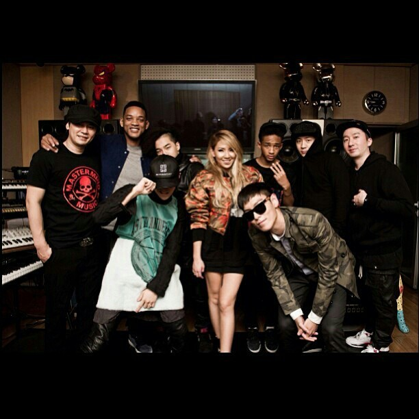 Will and Jaden Smith with YG Family ♡♡♡