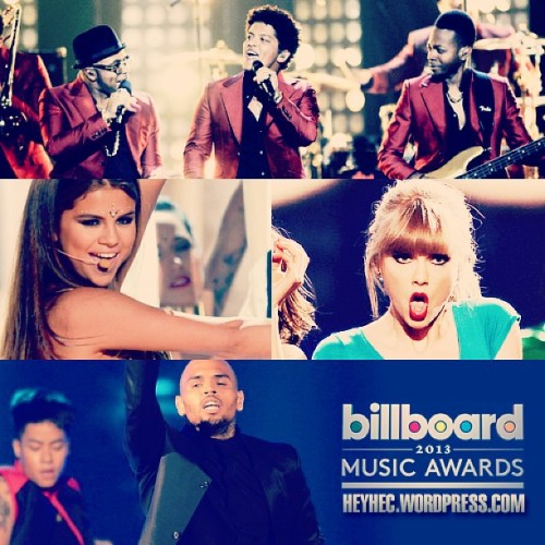 Ya están disponibles las presentaciones de Bruno Mars, Selena Gomez, Taylor Swift y Chris Brown en los Billboard Music Awards 2013 »> http://www.heyhec.wordpress.com