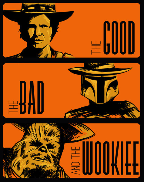 scifisweetheart:  The Good, The Bad, and The Wookiee