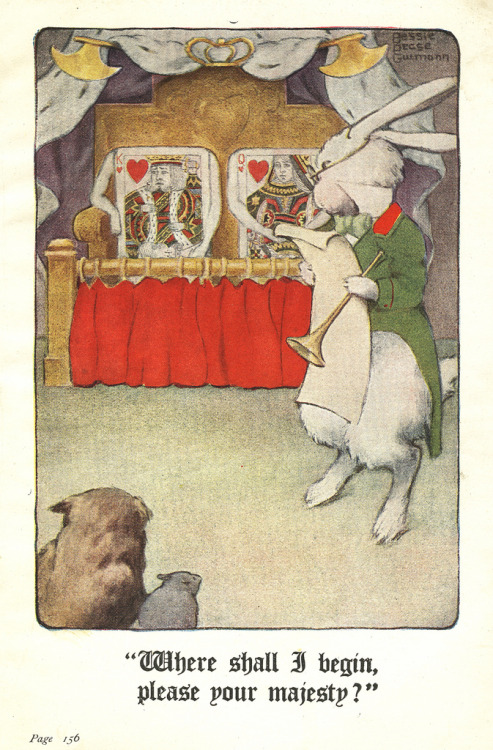 Alice In Wonderland .illustrated by Bessie Pease Gutman 1920