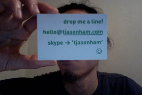 business cards came in the mail~