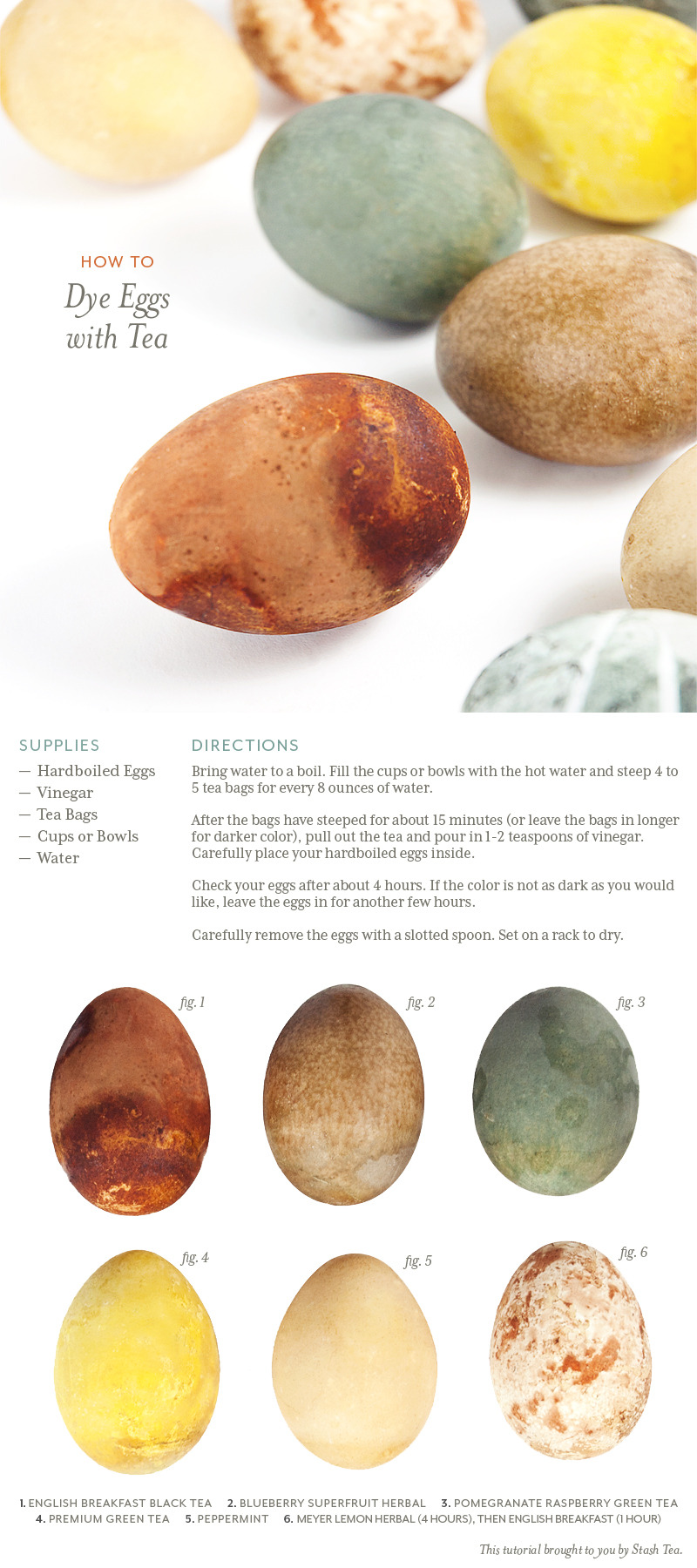 We dyed eggs in our tea and got some unexpected results! Learn how to make your own naturally colored Easter eggs by following our easy directions.