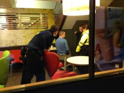fuckluckycharms:  This is a drunk guy in a McDonalds in town stuck in a baby chair fucking love Ireland  Reasons like this are why I'm glad to be Irish