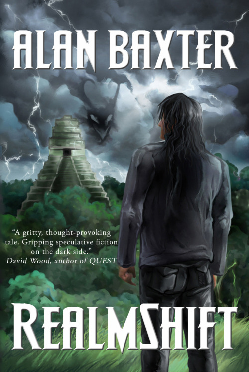 "Monty Reads: RealmShift by Alan Baxter Last year, I attended the Continuum Convention in Melbourne. I snuck into the end of a readings panel one day, and caught the end of a reading by Alan Baxter. I don't remember what the story was, but I remember thinking ""that's awesome, I want to read his stuff!"" And then I went home and didn't read any of his stuff. That was until I was given the opportunity to get RealmShift as an ebook, which I jumped at.  I read this book on the train. For some reason, it really suits train reading. It's about an immortal being, Isiah, who goes about fighting demons and trying to restore balance to the belief systems of the world. I really like the ideas of religion in this book - humans believe something strongly enough, and it is real. Your deity, whatever that may be, exists because you believe in it. As an atheist myself, I don't believe in any deities. But I do believe in having faith. Believing in something, anything, is important, it gives life meaning. I think RealmShift supports this; it gives importance to the self, to the character. Humans are the important ones, those who do the believing. RealmShift ties together these ideas of faith and belief in a gritty, violent, suspenseful story. I didn't want to get off the train so that I could keep reading, sometimes! The thing that annoys me about ebooks, though, is that you don't know the weight of the book. At 153 pages of tightly formatted text, RealmShift is not a short story. But I went into it thinking it was shorter, and I think that affected the way I read it. It wasn't a bad thing, but I was a little impatient waiting for the story to get going.  Overall, a fun bit of reading, something that I probably wouldn't have picked up myself, what with all the demons and extra-human abilities. But I enjoyed it and will definitely now find more Alan Baxter to read."