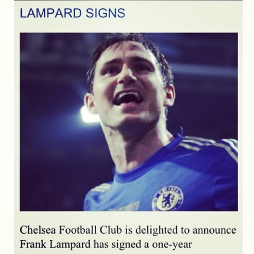 It's official! Another year with a legend! Super Frank. #frank #lampard #chelseafc #cfc #lampardsign