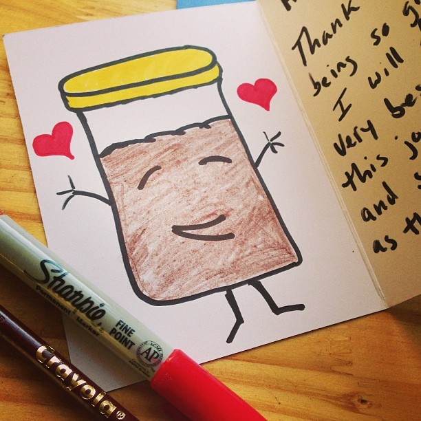 Writing cards for the cake jars! Thanks for the support, my loves. http://indiegogo.com/helloharto - @myharto- #webstagram