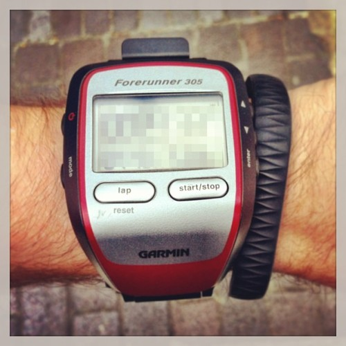 The old #optech & the new. #MooresLaw in effect! #GarminForerunner #JawboneUp #thequnatitatedself #itsallaboutthemetrics