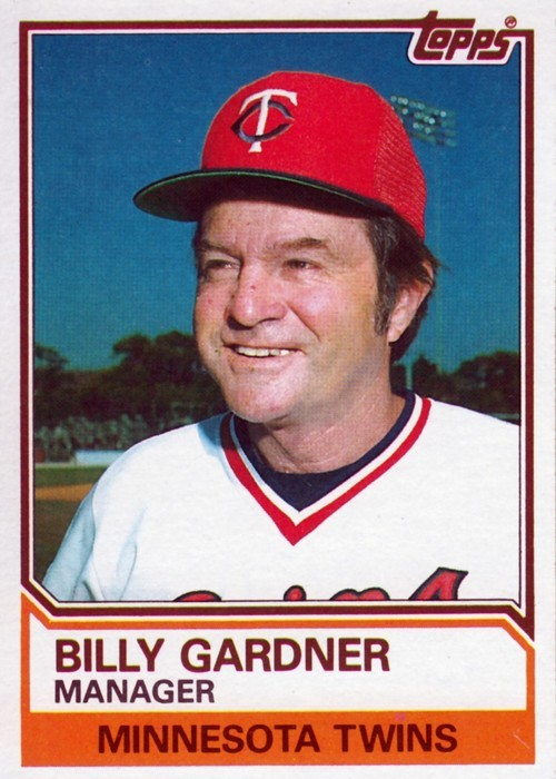 Random Baseball Card #2197: Billy Gardner, manager, Minnesota Twins, 1983, Topps.