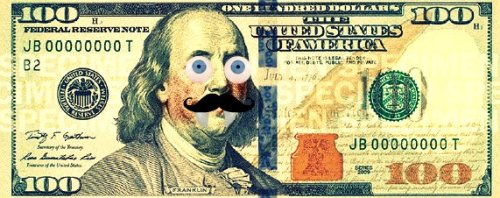 See the new $100 bill and how it could be way better: http://blog.trutv.com/dumb-as-a-blog/2013/04/24/new-100-dollar-bill-october/index.html