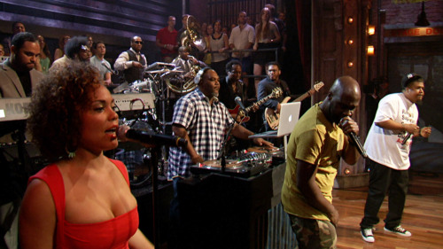"latenightjimmy:  De La Soul killed it last night with their performance of ""What Jenifa Taught Me.""   Straight up perfect."