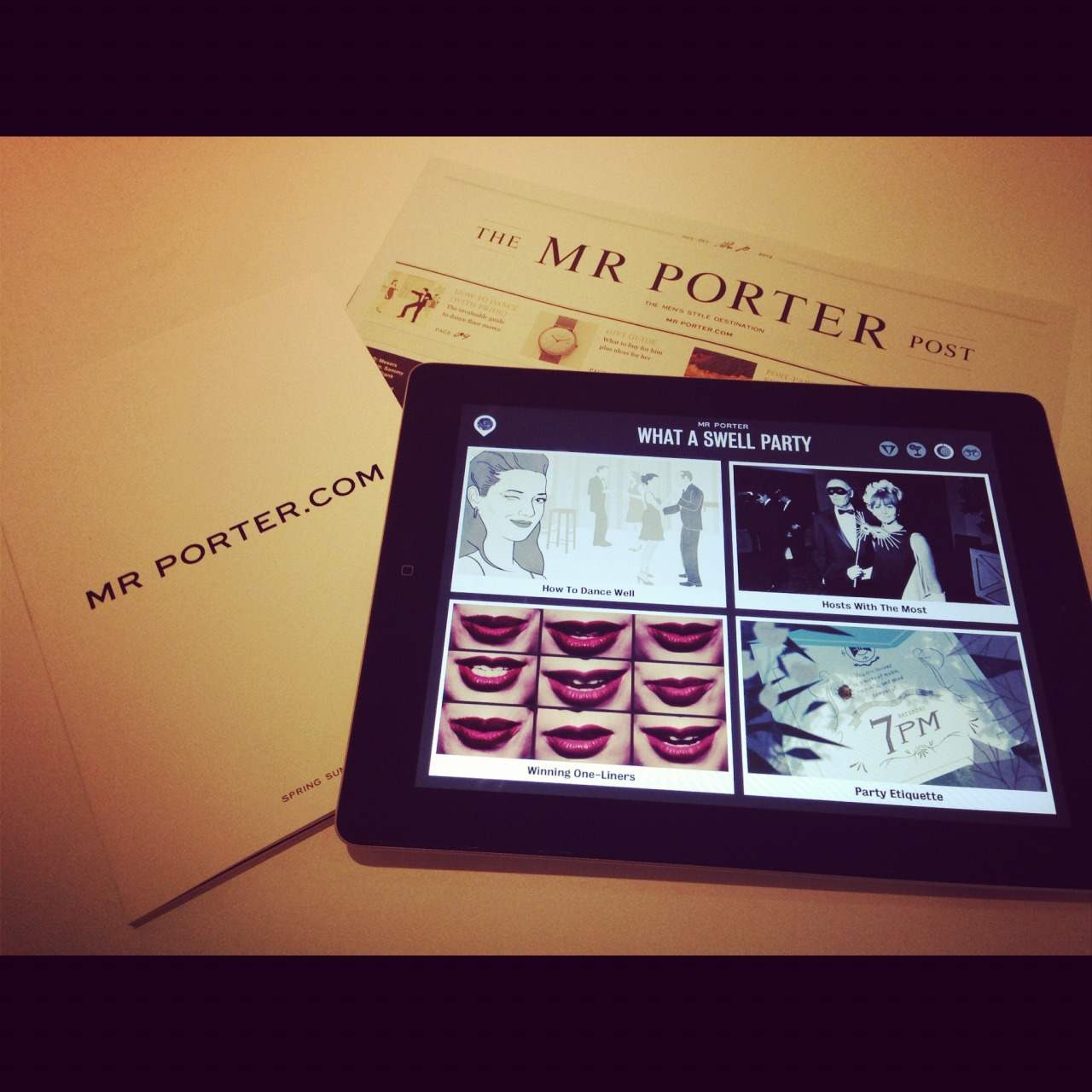 Have you had an opportunity to experience the Mr Porter iPad Magazine? Issue One – The Tux is available now, and is your perfect guide to the holiday season. Download our free app now for exclusive videos, interviews, and interactive features: http://bit.ly/Wiku7U