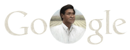 Google celebrates what would be the 86th birthday of Cesar Chavez. He's kind of like the Easter Bunny?