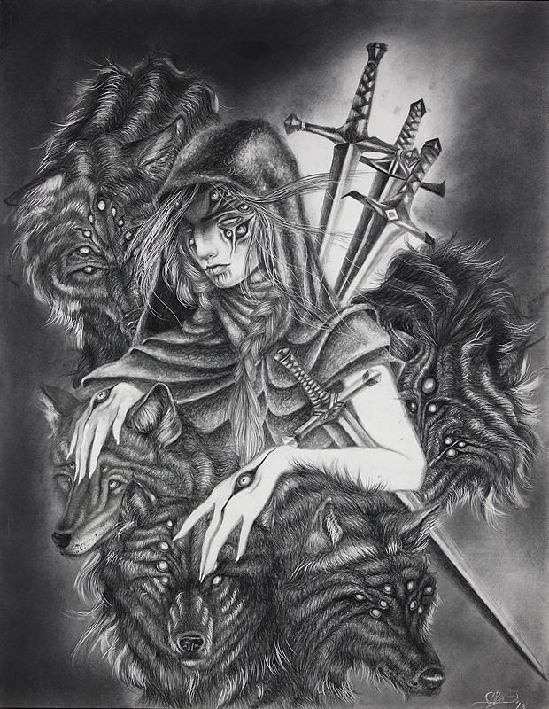 """Page of Swords"" by artist Chelsea Brown - interpreted from a standard Rider-Waite tarot deck.Graphite on ClayboardPart of the Tarot: Art of Fortune exhibition at Modern Eden Gallery in San Francisco, curated by Warholian's own Michael Cuffe.Don't miss this chance to purchase the original here:http://www.moderneden.com/collections/tarot/products/page-of-swordsFor more on Chelsea, follow here:http://www.chelseadraws.com/"