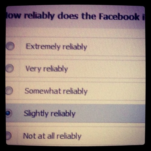Nice survey Facebook. Extremely reliably…okay #love #TagsForLikes #TFLers #tweegram #photooftheday #20likes #amazing #followme #follow4follow #like4like #look #instalike #igers #picoftheday #food #instadaily #instafollow #like #girl #iphoneonly #instagood #bestoftheday #instacool #instago #all_shots #follow #webstagram #colorful #style #swag