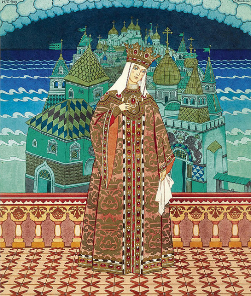"Ivan Yakovlevich Bilibin(1876-1942), ""Tsaritsa Militritsa"" by sofi01 on Flickr."
