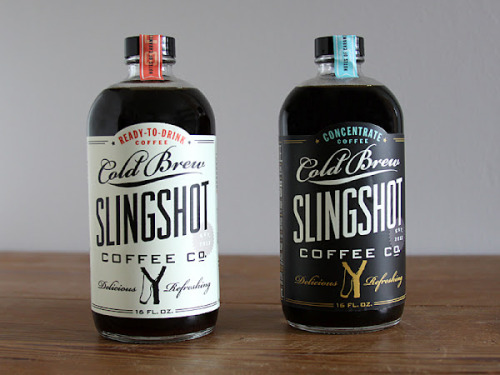 Packaging porn makes cold brew craveable in the throes of winter.  From slingshot coffee company.